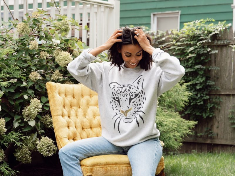 A Chic Leopard Sweatshirt To Chill At Home Or For On-the-Go