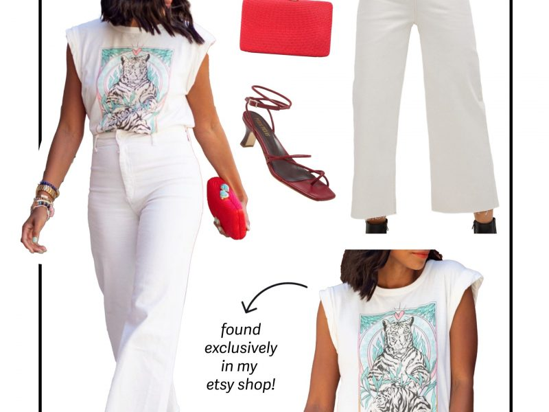 Dressing Up a Graphic T-shirt is This Easy!
