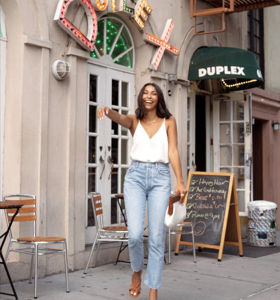 An Effortless Early Fall Date Night Outfit with Jeans